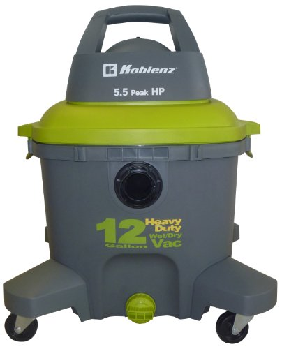 Koblenz Professional 12-Gal. Wet/Dry Vacuum Gray/Green WD-12K