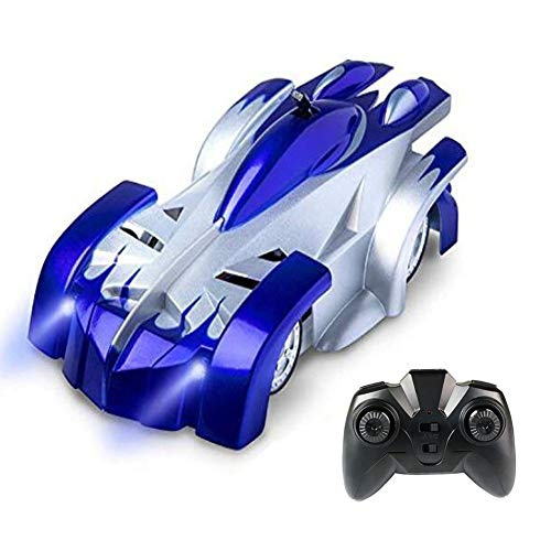 Switch Remote Control Track (Wall Climbing RC Car 2.4 Ghz Radio Remote Control Car Toys Rechargeable Sport Racing Vehicle Boys Girls Gift Gravity 360°Rotating Electric Stunt Car Blue)