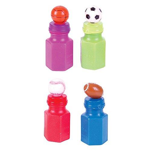 [24 Sport Theme Bubble Bottles] (Theme Bottle)