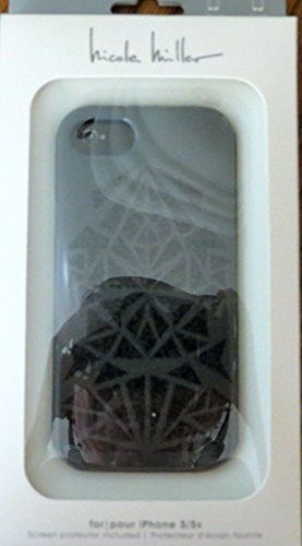 2-piece-glitter-cell-phone-case-for-iphone-5-grey-black-nicole-miller