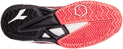 C7284 weiss noir Diadora Femme Fluo Pour Chaussures 4 Koralle Tennis De corail ag 5 Competition ZPZS6a