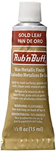 AMACO Rub 'n Buff Wax Metallic Finish, Gold Leaf, 0.5-Fluid Ounce