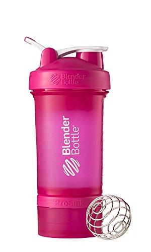 BlenderBottle Простак система с бутылкой и Twist N 'Lock хранения, розовый