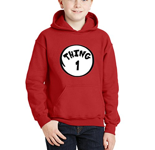 Thing 1 And Thing 2 Hoodies (Cleefs Shirts Kid's HOODIE Thing DR Seuss 1 2 3 4 5 6 7 8 9 Sweatshirt S(6/7) M(8)L(10/12)XL(14/16) (Large, Thing 1))