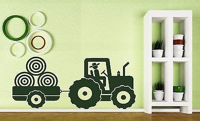 Large Vinyl Decal Wall Sticker Kid's Tractor Trailer Farm...