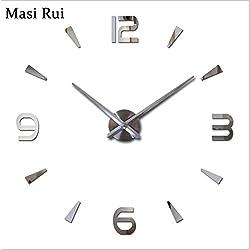 New Wall Clock Reloj De Pared Quartz Watch Living Room Large Decorative Clocks Modern Horloge Murale Still Life Stickers Black