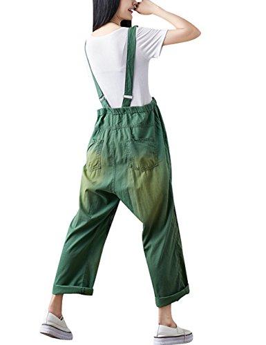 Tuta 21 Denim Verde Tute Tasche Youlee Autunno Donne Stile Con 71qnIa
