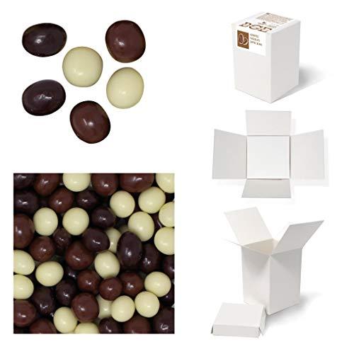 Bulk Gourmet Emporium - Geröstete Kaffeebohnen in Milch-, dunkler bzw. weißer Schokolade, kunststofffrei, vegetarisch und halalfreundlich, Kaffeebohnen mit Schokoladenüberzug, 500 g