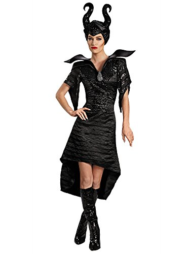 Disguise Women's Disney Maleficent Movie Maleficent Christening Deluxe Women's Glam Gown Costume, Black, Medium/8-10]()