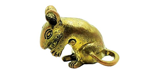 [Brassy tiny mushika mouse mount rat of lord ganesha ganesh hindu god of great beginning and success amulet pendant with box &] (Legend Lord Of Darkness Costume)