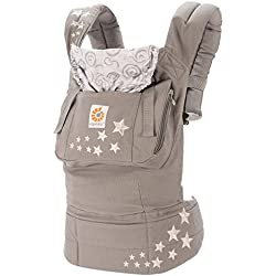 Ergobaby Original Award Winning Ergonomic Multi-Position Baby Carrier with X-Large Storage Pocket, Galaxy Grey