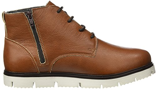 BIANCO Warme Leder Schnürboots, Stivali Chukka Uomo Marrone (Light Brown)