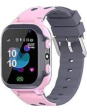 Barn Smart Watch Q16 Vattentät Wrist Game Smartwatch Plats Tracker med kamera väckarklocka SOS för pojkar flickor rosa enkelt Besvara samtal