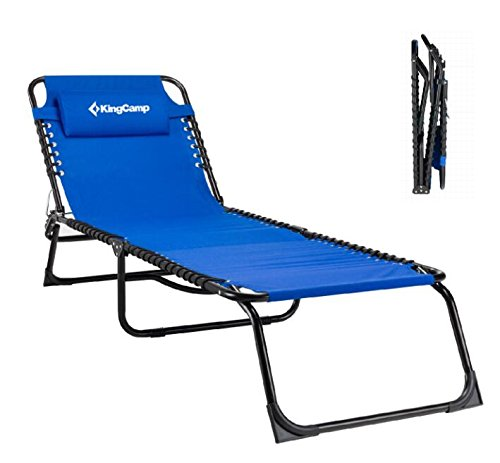 KingCamp Camping Cot Bed - Folding Lounge Chair