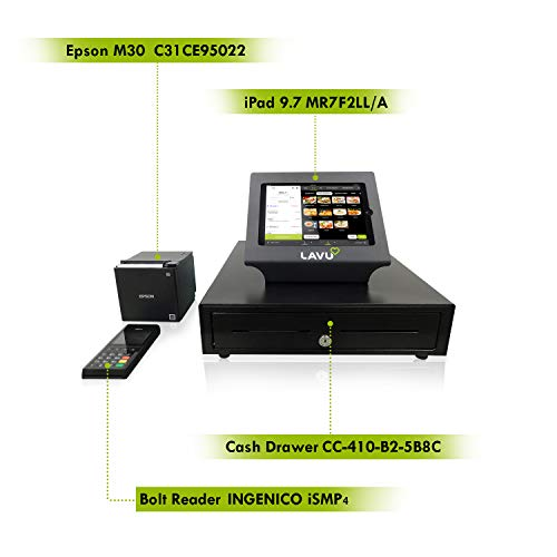 Lavu Winery Point-of-Sale POS Base Station with iPad, Cash Drawer, Bolt  Credit Card Reader, and Epson M30 Receipt Printer | Incl  Smart, Secure  Point