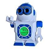 "Kingstar 7"" Robot Led Projection Alarm Clock, Portable Image Display Kids Digital Clock Night Light Projector"