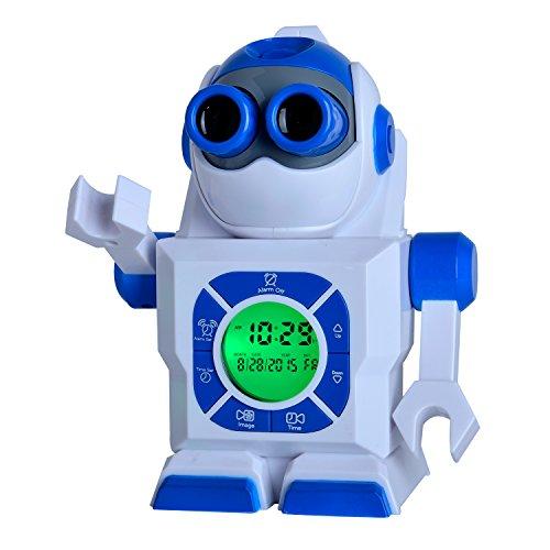 Kingstar 7 Quot Robot Led Projection Alarm Clock Portable