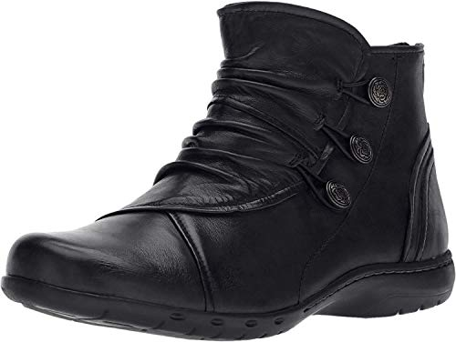 Rockport Cobb Hill Women's Cobb Hill Penfield Boot, Black Leather, 8.5 M US (Rockport Boot Women)
