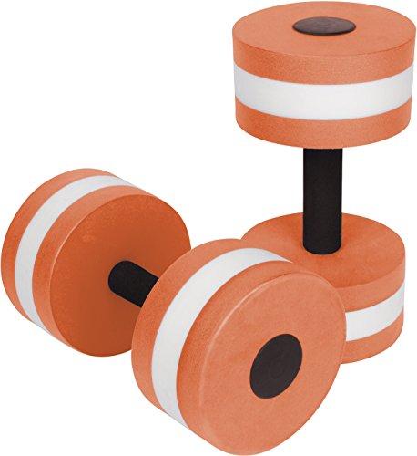 Trademark Innovations Aquatic Exercise Dumbells - Set of 2 Foam - For Water Aerobics - By (Orange)