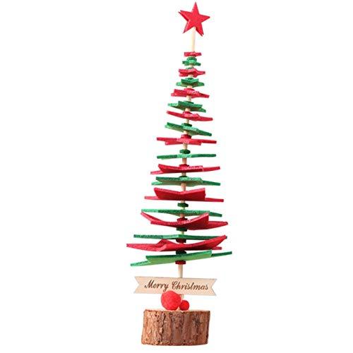 HanChang significativo 2020 Mini DIY no Tejido Árbol de Navidad Decoracion de Escritorio de Navidad Decoracion del hogar