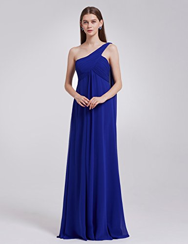 Sapphire Evening Gown - Ever-Pretty Womens Long One Shoulder Bridesmaid Dress 16 US Sapphire Blue
