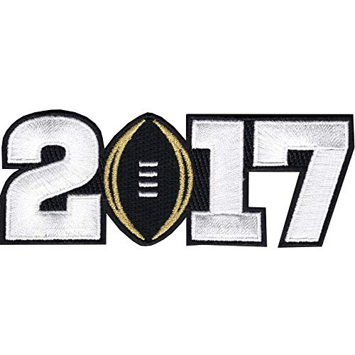 NCAA 2017 College National Championship Playoff Game Jersey Patch Black Alabama -