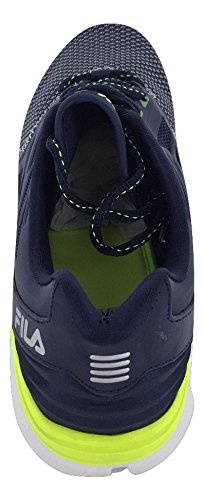 Mens Fila Memory Electrozoom Running Athleic Shoes Navy/Wht O7XjDkmie