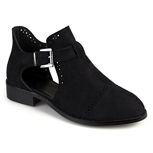 Cut Laser Womens Buckle Womens Black Journee Collection Booties Journee Collection xq6Hw7Yq