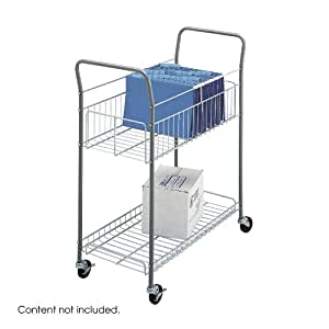 Safco Products 7754 Economy Mail Cart, Gray