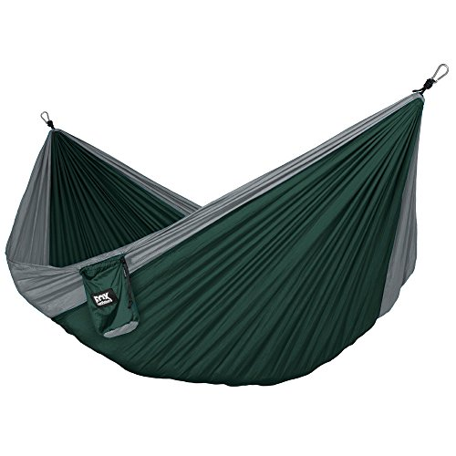 Fox Outfitters Neolite Single Camping Hammock - Lightweight Portable Nylon Parachute Hammock for Backpacking, Travel, Beach, Yard. Hammock Straps & Steel Carabiners (Best Fox Outfitters Beach Chairs)