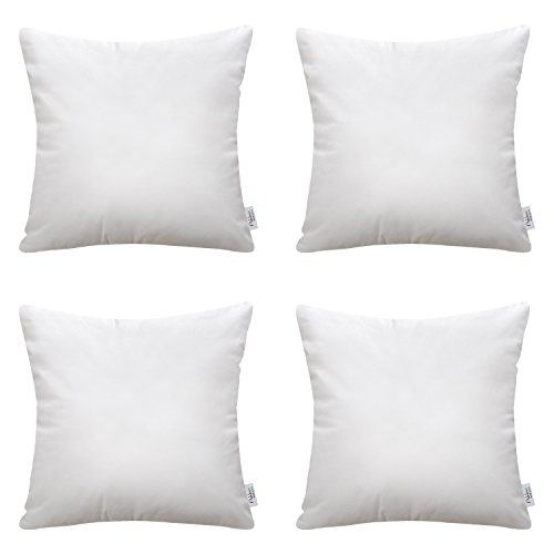 Ashler Set of 4 Hypoallergenic Throw Pillow Inserts Standard