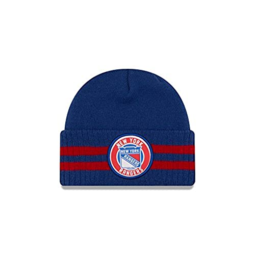 6a406f2bed0 ... free shipping nhl new york rangers 2 striped remix knit beanie one size  royal 6eb44 7adec