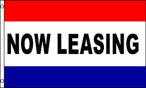 Now Leasing Flag 3X5ft Poly