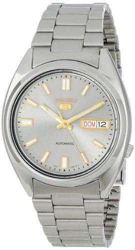 Seiko Herren-Armbanduhr 5 Gent Analog Automatik Edelstahl SNXS75K