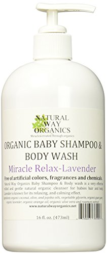 Way Baby Shower (Natural Way Organics Organic Baby Shampoo & Body Wash Miracle Relax - Lavender 16 Oz.)