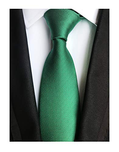 Men's Hunter Green Silk Cravat Woven Tie Texture