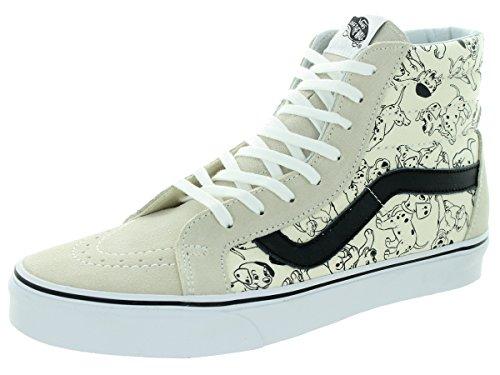 Vans Unisex Sk8-Hi Reissue (Disney) Dalmatians White Skate Shoe 10 Men US / 11.5 Women US