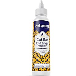 Petpost | Cat Ear Cleaner - Best Ear Mites Remedy for Cats - Natural Coconut Oil Treatment Drops - Alcohol & Medicine Free - 8 Oz.