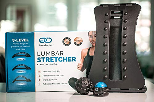 Back Stretcher - Back Pain Relief - Sciatica Pain Relief - 3 Adjustable Settings for Back Stretcher Device (Best Back Stretches For Back Pain)