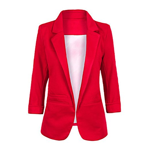 Face N Face Womens Cotton Rolled Up Sleeve No Buckle Blazer Jacket Suits