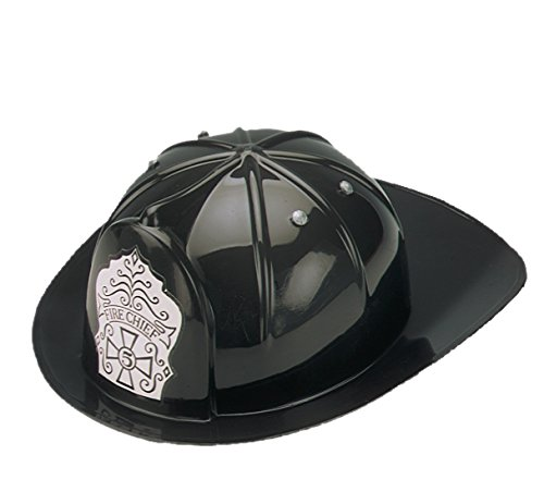 Fire Chief Kids Costumes (Jacobson Hat Company Child's Black Fire Chief Hat)