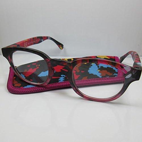 Chique leesbril roze met veerbeugel leeshulp voor hem en haar kantenklare bril etui 10