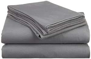 Hanes Jersey Knit Queen Sheet Set, Frost Gray