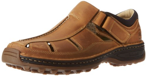 - Timberland Men's Altamont Toe/Closed Back Fisherman, Tan Oiled Distressed Full Grain, 14 EE - Wide