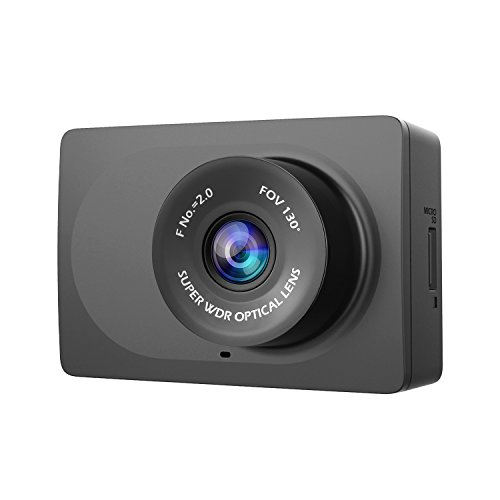"YI Compact Dash Cam, 1080p Full HD Car Dashboard Camera with 2.7"" LCD Screen, 130° WDR Lens, G-Sensor, Night Vision, Loop Recording - Black (Dash Navigation System)"