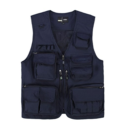 Dark Working Fishing Photography Blue Mens Fishing Mesh Fishing Vest Gilet Zhhlinyuan Outdoor Waistcoats awxpBTqPq