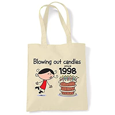 Blowing Out Candles Since 1998 18th Birthday Tote / Shoulder Bag - hobos-shoulder-bags