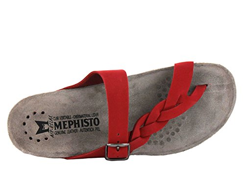 Rouge Nubuck Mephisto Sandals Helen Womens Twist vzwRzx
