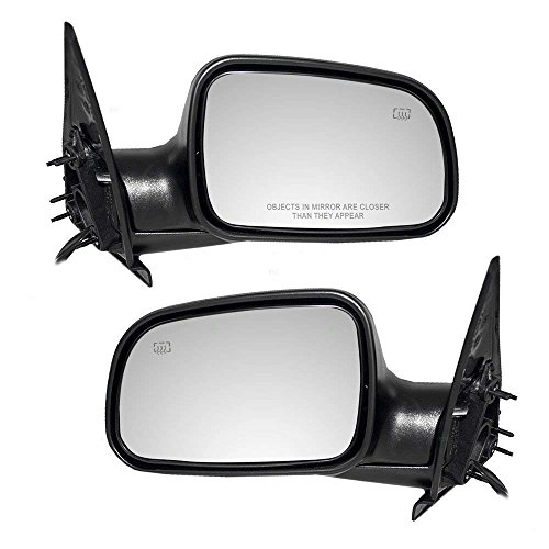 Make Auto Parts Manufacturing Driver and Passenger Side Power Operated Heated Manual Folding Non-Towing Door Mirror For Jeep Grand Cherokee 1999-2004 - CH1320169-CH1321169 ()