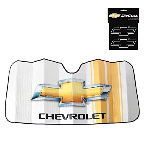 - Chevy Racing Accordian Sunshade and a Chevy White Die Cutz Decal